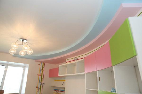 Комната с нятяжным потолком
