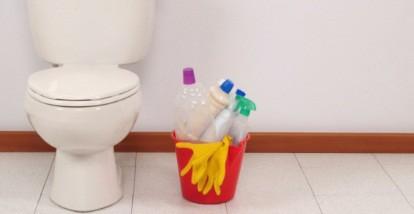 Унитаз и моющие средства