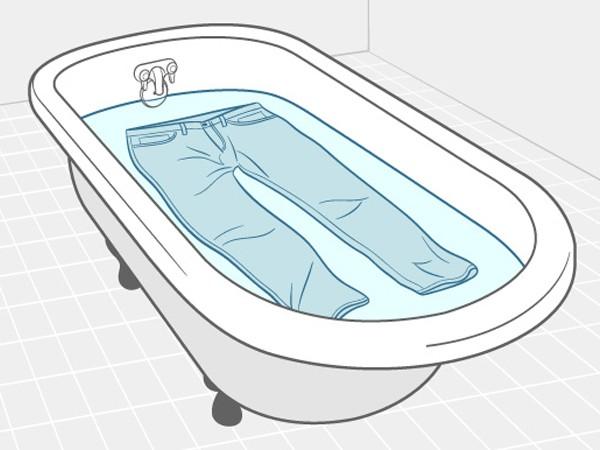 Замоченные джинсы