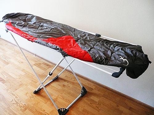 Сушка синтетического спального мешка
