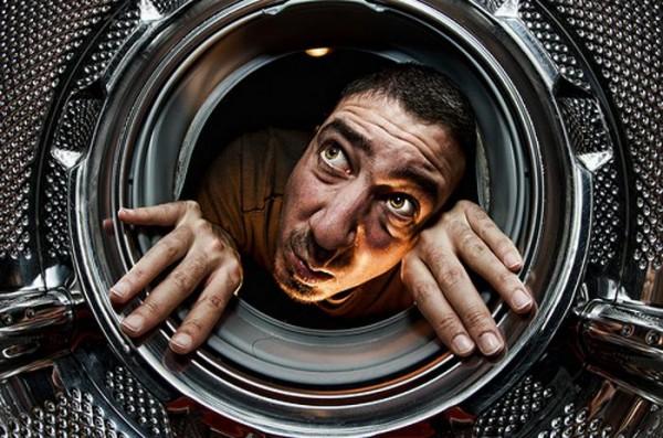 Осмотр бака стиральной машины