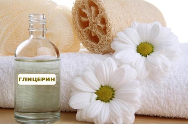 Глицерин, полотенце, цветы