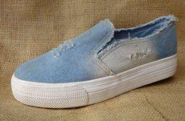 Женская обувь из джинсовой ткани