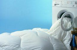 Стирка пуховых подушек и одиял в стиральной машине